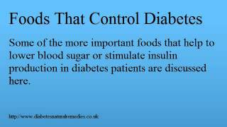 Foods That Control Diabetes: Health Food For Diabetics