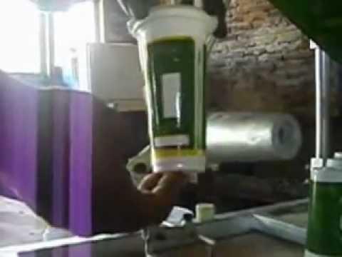 proses sablon gelas plastik