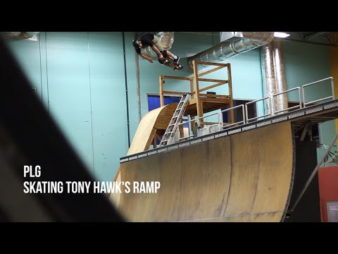 PLG on Tony Hawk's ramp