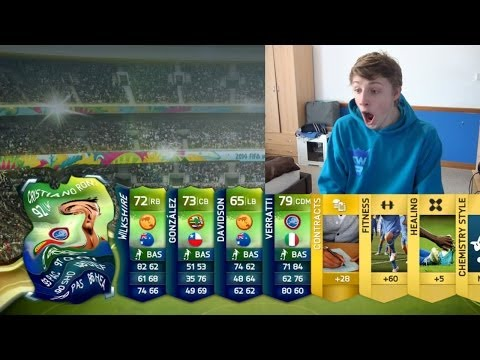 GUESS WHO I GOT!! - FIFA 14 WORLD CUP PACK OPENING