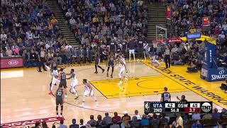 2nd Quarter, One Box Video: Golden State Warriors vs. Utah Jazz