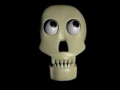 Animated skull (Blender 3D) thumbnail
