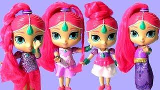 Shimmer and Shine Dress Up Dolls ❤ Magic Dress Shimmer and Shine Magiclip Dolls by Funtoys