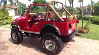 Jeep CJ5 - Walk around and Drive ... WAS For Sale .... V8 AMC 304