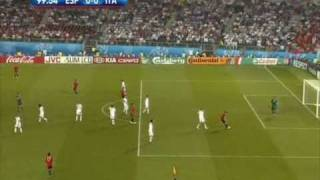Amazing reflex save! Buffon vs. Spain 2008