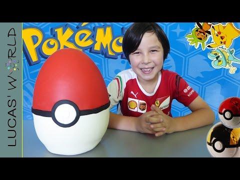 Giant POKEMON PLAY DOH Surprise Egg POKE BALL PIKACHU & MORE MYSTERY POKEMON FIGURES & SURPRISES!