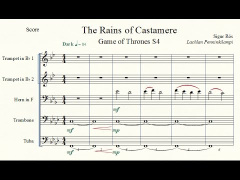Game of Thrones: The Rains of Castamere (Sigur Rós) - Brass Quintet