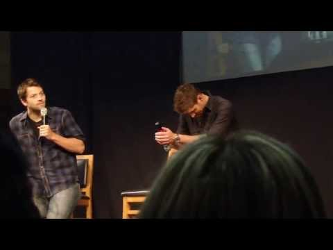 jus in bello 2013: jensen and misha read the resumés and dance and re-enact said resumés