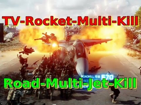Jet-Road Multikill + TV-Rocket Multikill | BATTLEFIELD 3 - BF3 [HD]