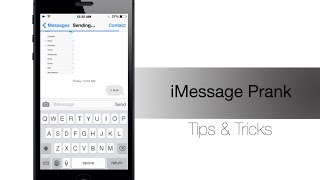 Funny iMessage Prank - Drive your friends crazy! - iPhone Hacks