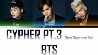 BTS (방탄소년단) (Rap Line) - Cypher pt.3: KILLER (feat. Supreme Boi) | Color Coded Lyrics |  Han/Rom/Eng