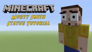 Minecraft Tutorial: Morty Smith (Rick and Morty) Statue