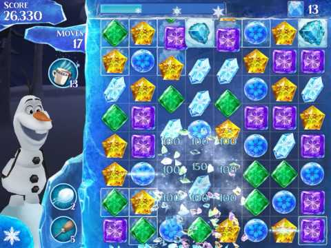 Frozen Free Fall Level 186 Live Action Play Walkthrough