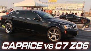 Chevy Caprice vs C7 Z06 Corvette