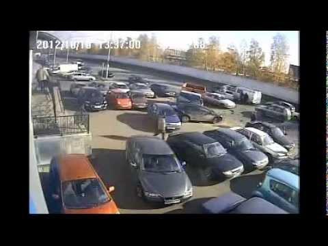 8 машин столкнулись в Казани
