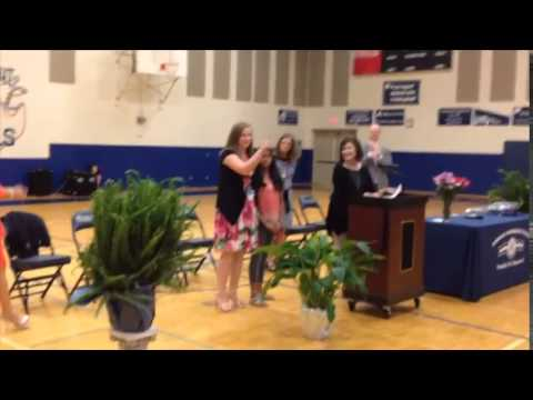 Farragut Intermediate School teacher Niki Adams honored at a school assembly