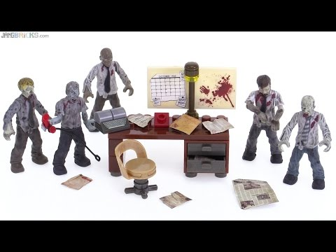 Mega Bloks Call of Duty Office Zombies Mob review!