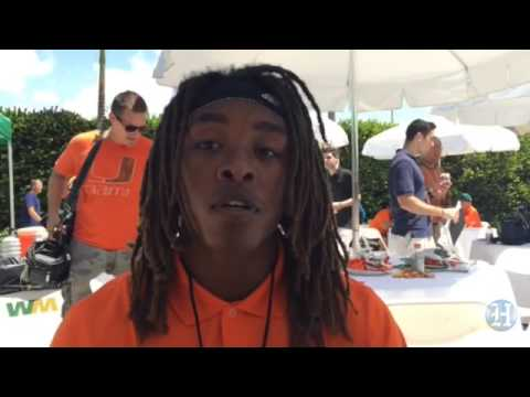 UM Hurricanes Football Media Day: Freshman CB Sheldrick Redwine
