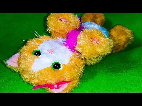 Кошечка Дейзи. Кот говорящая Интерактивная игрушка.Котёнок играет. Питомец Насти.Kitten Pet.