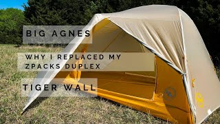Why I replaced my Duplex tent, BA Tiger Wall UL2 First look