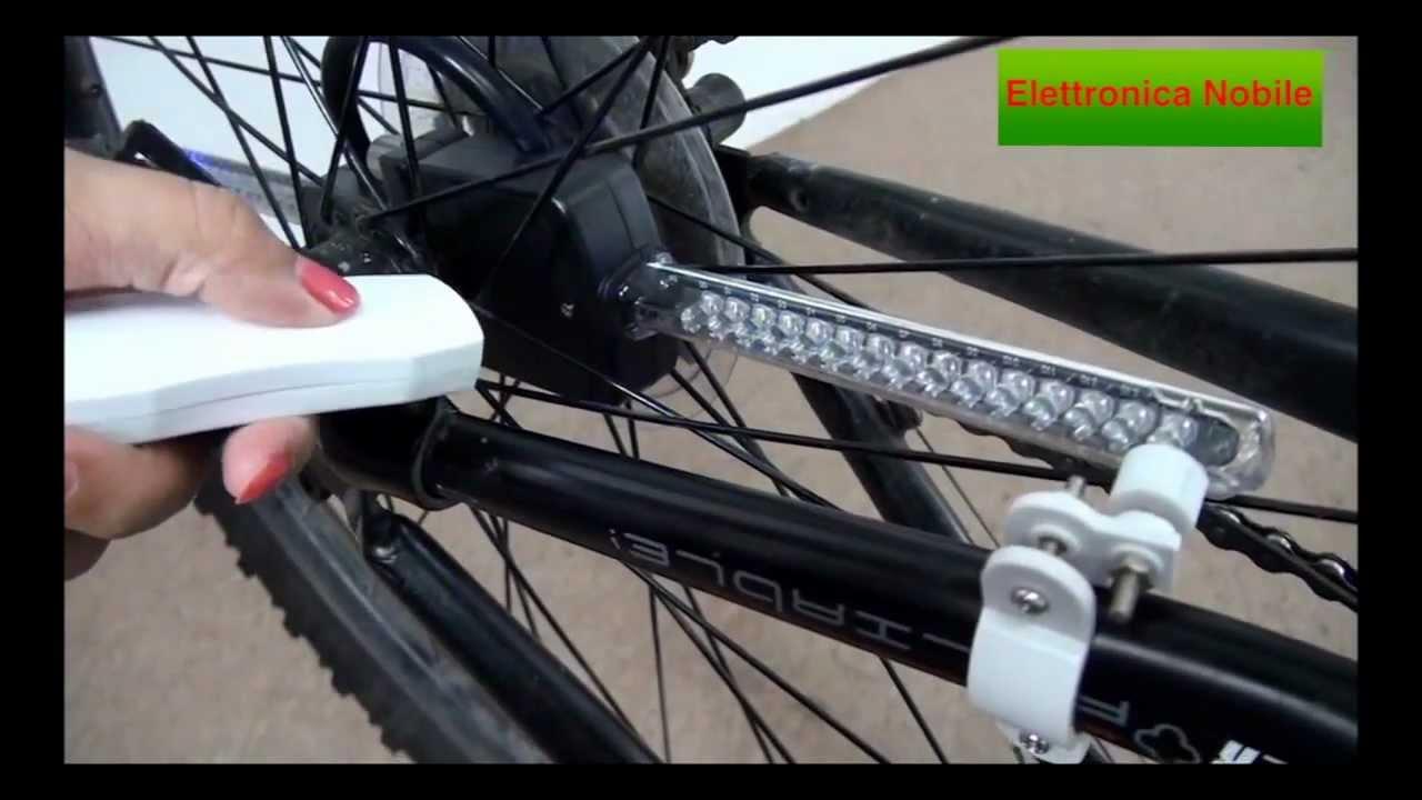 Copripiumino Con Bicicletta : Luci led programmabili per bicicletta con controllo