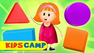 What Kind Of Shape Is This? Learn Colors And Shapes With Elly | Songs For Children by KidsCamp