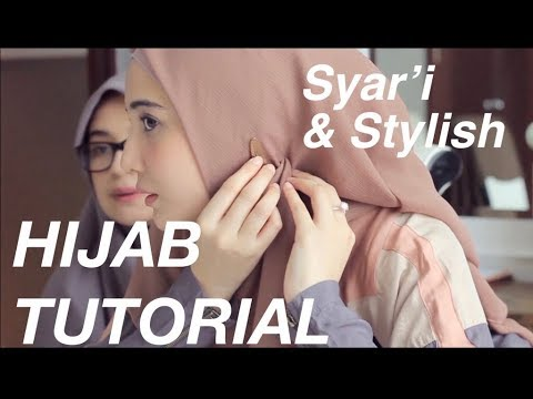 Tutorial hijab menutup dada ala zaskia sungkar - YouTube