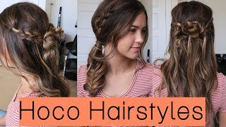 3 Cute Homecoming Hairstyles!! | Alyssa Mikesell
