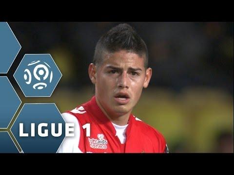 James Rodriguez - 1er but en Ligue 1 & ENORME match - AS Monaco-Rennes - 2013/2014