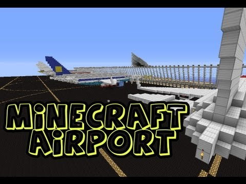 Minecraft aeropuerto / airport + Descarga / Download (con aviones / with planes)