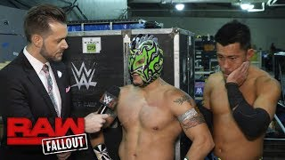 Kalisto vows to shut Enzo's mouth in the Survivor Series Kickoff Match: Raw Fallout, Nov. 13, 2017