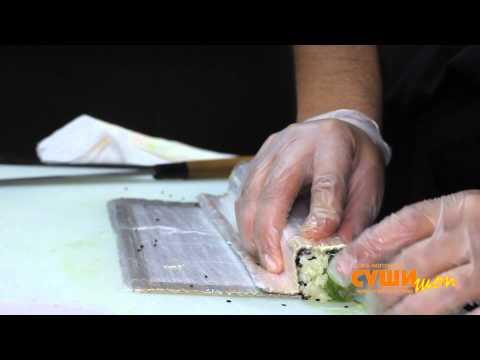 Как приготовить суши (Флорида). Суши Шоп. / How to make Florida Sushi.