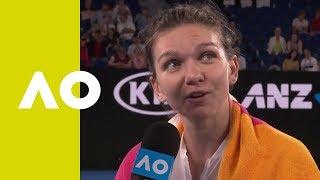 Simona Halep on-court interview (2R)   Australian Open 2019