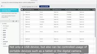 【KDDI Cloud Inventory】External Storage Devices Control