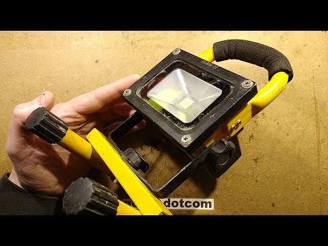 Inside a proper (Utility company) LED work light.