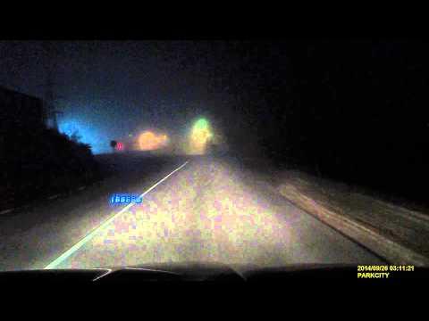 опасный поворот на скорости 150 км в час и авария .