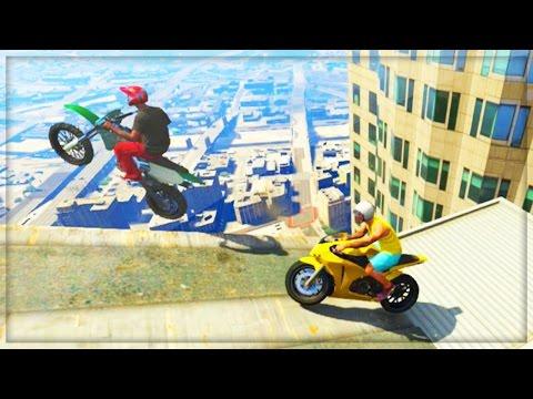 Gta 5 Funny Moments - Insane Skyscraper Parkour Stunts! (gta V Online Funny Moments Gameplay) video