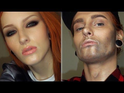 WOMAN TO A MAN MAKEUP TRANSFORMATION TUTORIAL / Girl to boy make-up