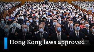 China's NPC approves New Hong Kong laws | DW News