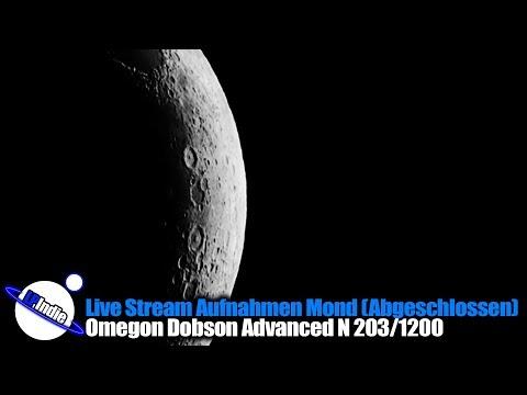 Live Aufnahmen mit Omegon Dobson Teleskop Advanced N 203/1200