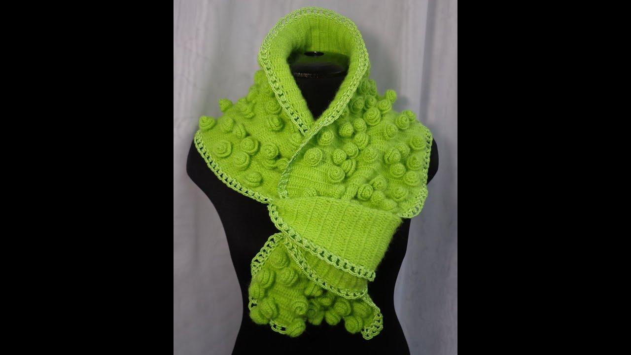 Как вязать шарф из 2 цветов