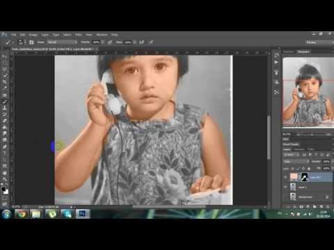 черно белый портрет видео урок