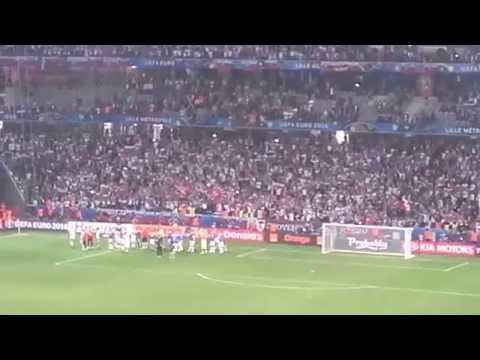 15/06/2016. Russia Slovakia. Post match celebrations.