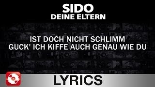 SIDO - DEINE ELTERN - AGGROTV LYRICS KARAOKE (OFFICIAL VERSION)