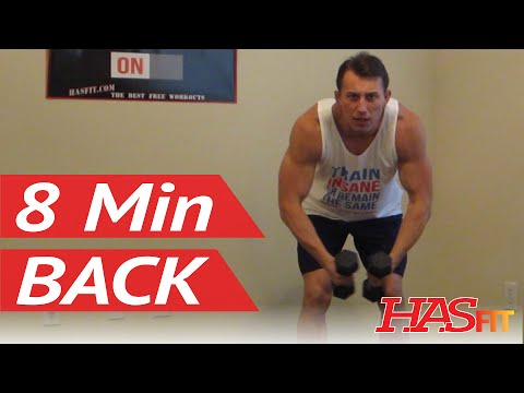Attack Your Back! 8 Minute Back Workout at Home - HASfit Back Exercises Routine - Back Work Out