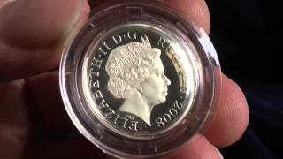 2008 Silver Proof One Pound Coin
