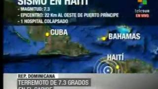 Sismo En Haiti- 13 De Enero De 2010-temblor En Haiti, Rep Dominicana, Habana, Cuba