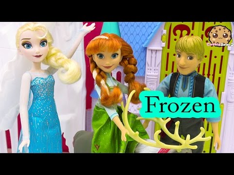 Disney Frozen Dolls Queen Elsa, Princess Anna , Kristoff Hasbro Doll Unboxing Video Cookieswirlc