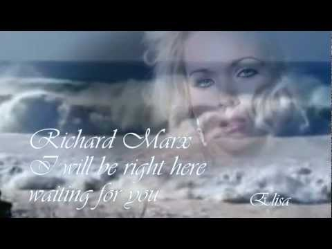 Right Here Waiting--richard Marx- Chiar Aici Asteptand  Tradus video