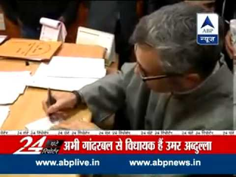 Omar Abdullah files nomination from Sonawar constituency in Srinagar